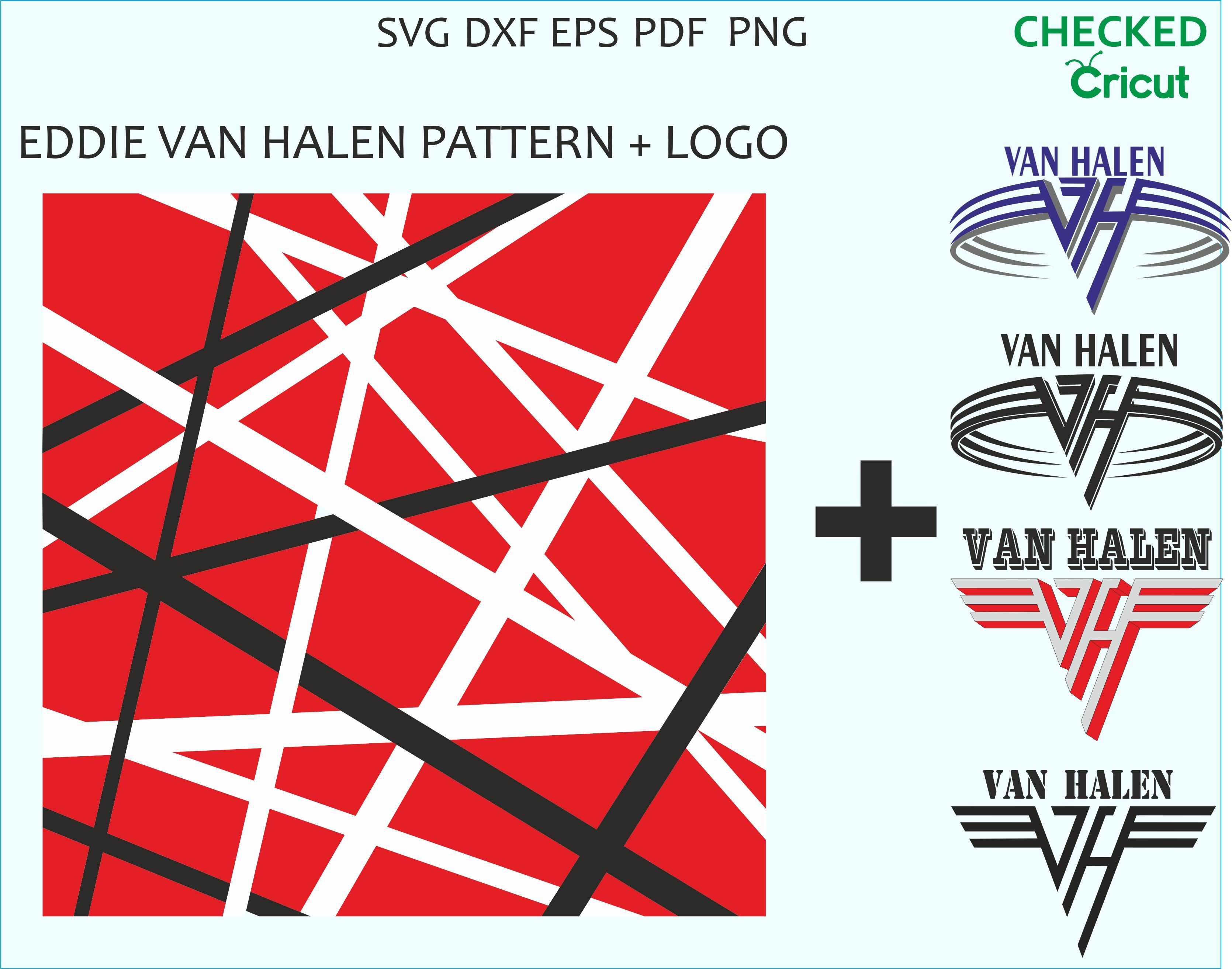 Eddie Van Halen Pattern Svg Eps Png Eddie Van Halen Guitar Patterns Van Halen