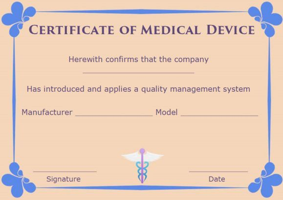 Certificate Of Compliance Template Medical Devices Certificate Of