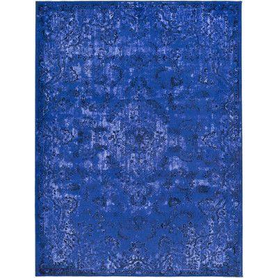 "Artistic Weavers Saturn Austin Royal Blue Area Rug Rug Size: Runner 2'3"" x 7'3"""