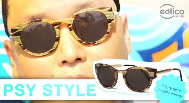 Psy com óculos de sol Thierry Lasry Variety #thierrylasry #oculosdesol #sunglasses #psy