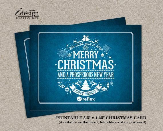 Business Christmas Card Printable Corporate Holiday Cards With Logo Business Business Christmas Cards Corporate Holiday Cards Business Christmas Greetings