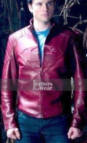 14c3f5e7e Smallville Tom Welling Superman Red Leather Jacket | Smallville Tom ...