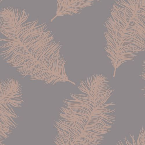 Photo of Fawning Feather Wallpaper Rose Gold / Grey Holden 12629
