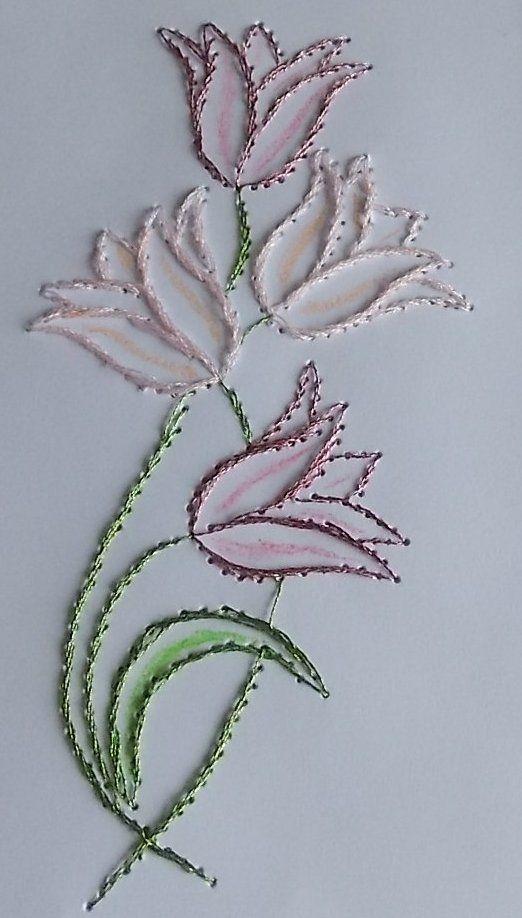 Carte brodée #embroidery