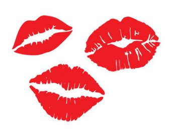 Lips Kiss Valentines Stencil Svg Dxf File Instant Download
