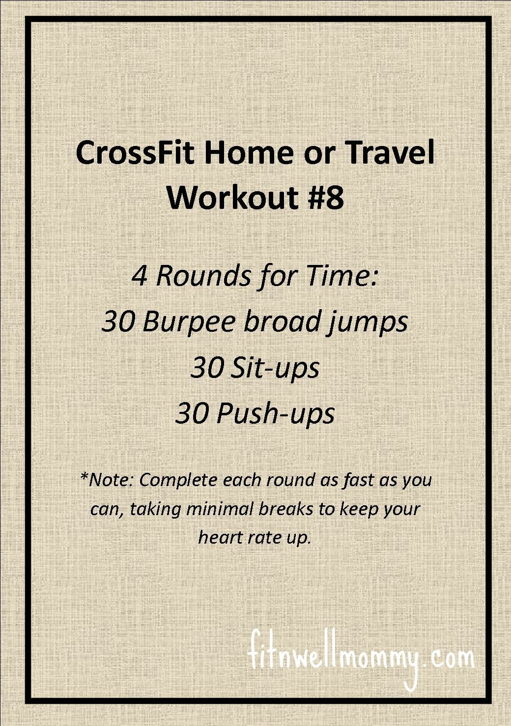 CrossFit Home or Travel WOD #8 | Bobby Knight\'s, Bodyweight File ...