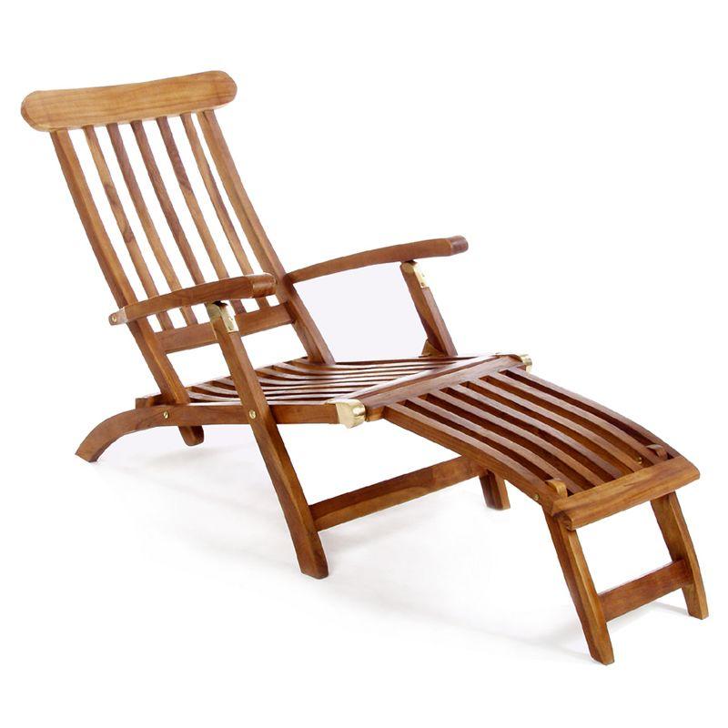 5 Position Steamer Chair All Things Cedar Tf53 In 2020 Teak Adirondack Chairs Indoor Swing Chair Teak Furniture