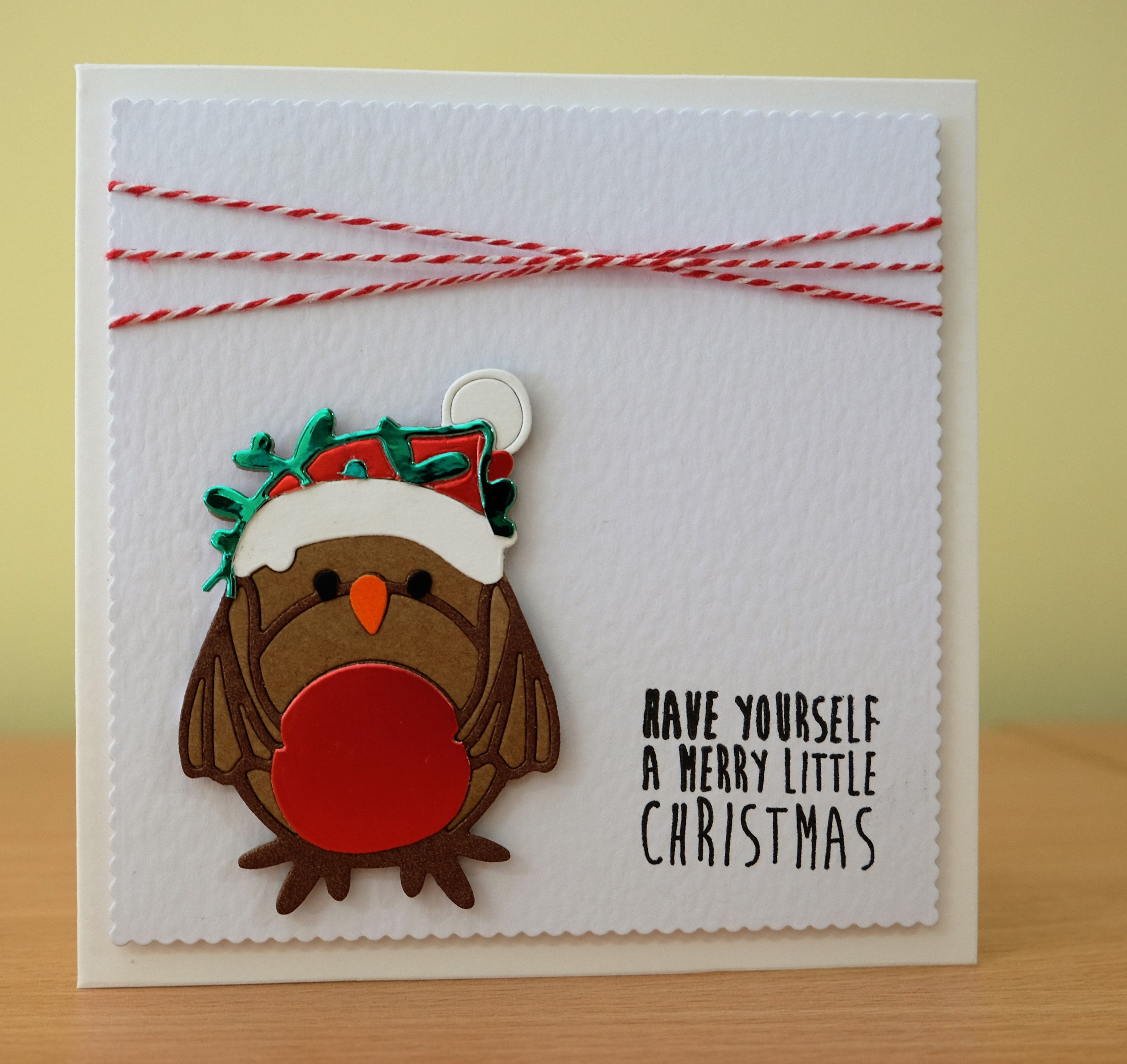 Christmas Card  Tonic Robin Die To Purchase My Cards