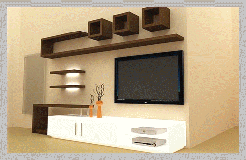 Lcd Tv Showcase Designs For Unit