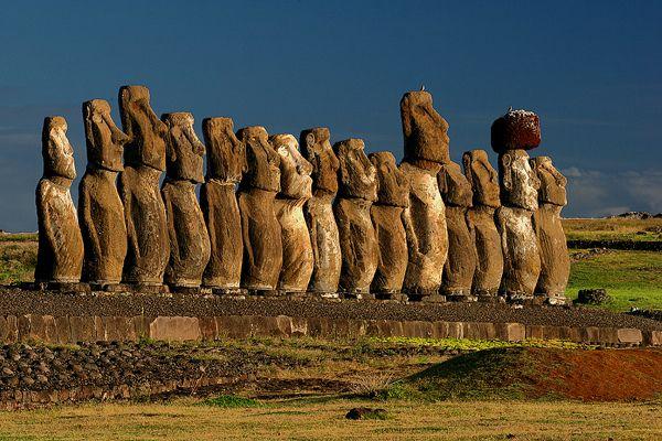 Ahu Tongariki Travelling Moai Easter Island Statue Rapa