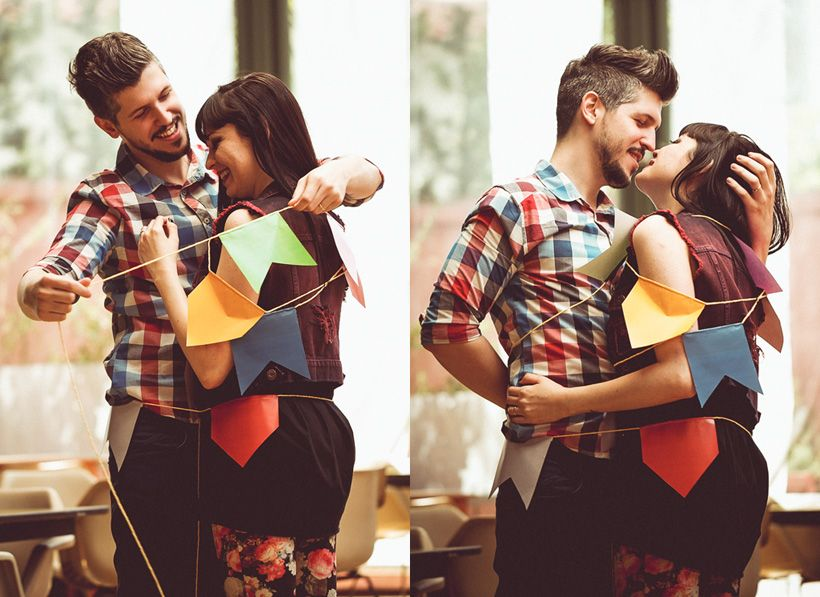 A rock'n roll couple e-session - don't they look like they're made for each other?! Such a perfect fit...