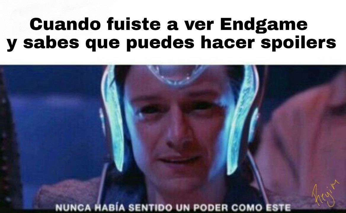 Meme Endgame Avengers Nunca Habia Sentido Un Poder Como Este Memes Funny Spanish Memes Stupid Funny Memes