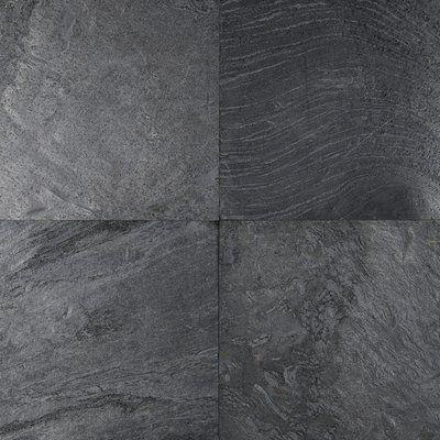 "Genoa x 12"" Natural Stone Field Tile in Ostrich Grey | AllModern"