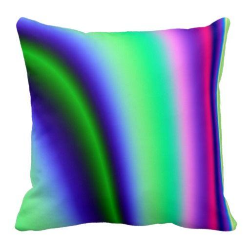 Lazy Color Stripes American MoJo Pillow $66.95