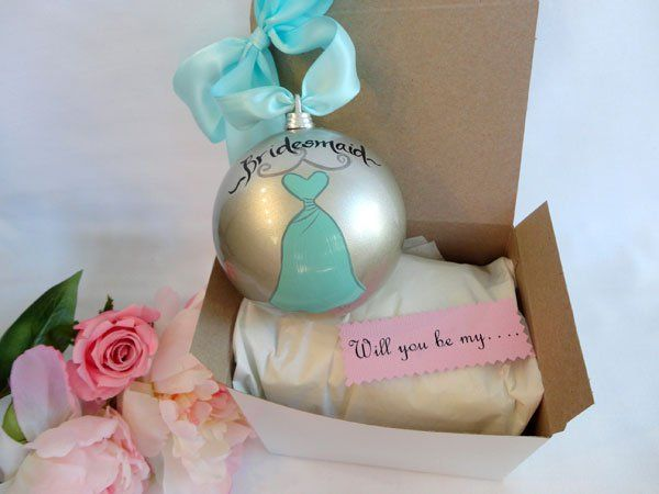 will you be my bridesmaid ornament