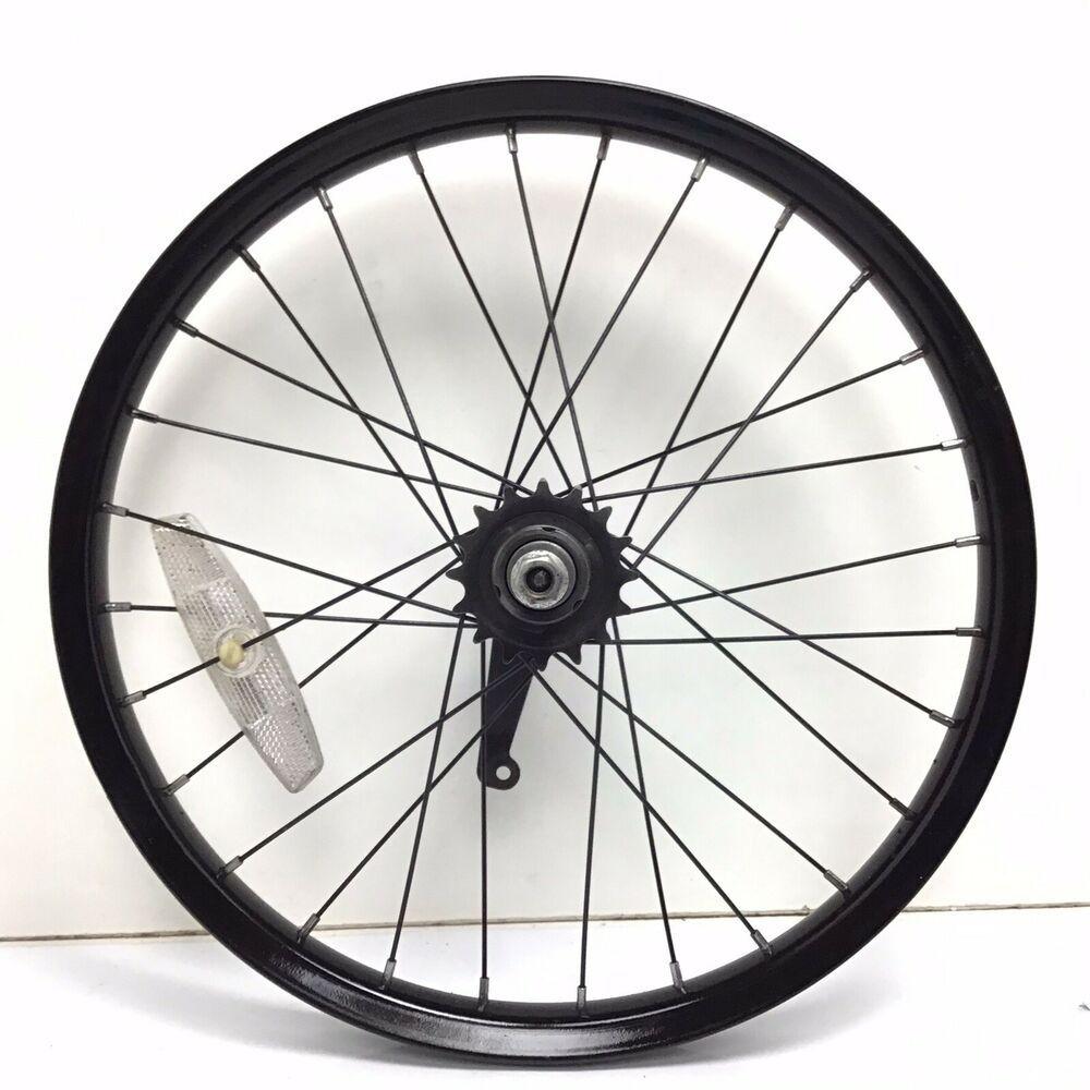 16 black rear bicycle wheel w coaster brake youth bike