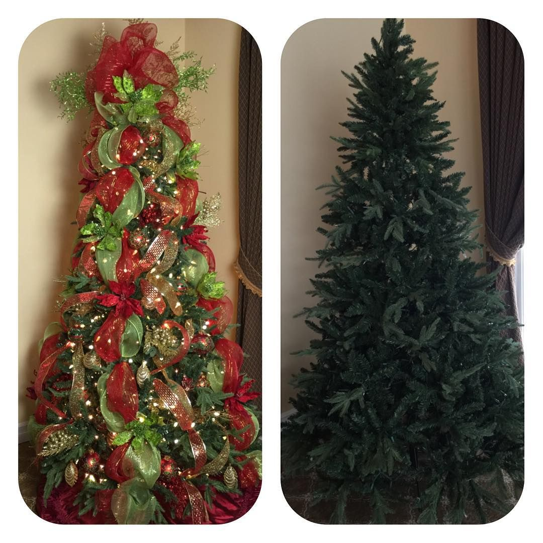 Red And Gold Christmas Trees: And She's Done!! Now On To My Wreath... This Year We Went