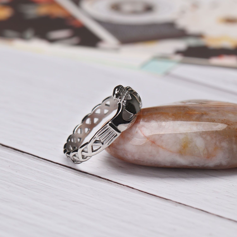Celtic Knot Crown Titanium Steel Promise Rings Celtic