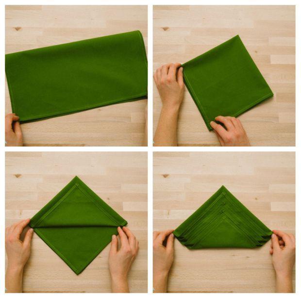 Como doblar las servilletas en navidad doblar - Como doblar servilletas de tela ...