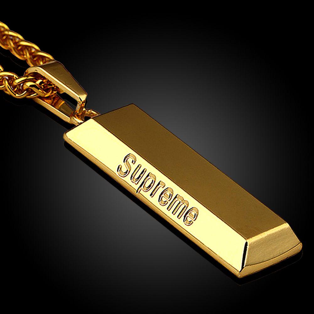 Goldkette mit anhänger herren  Lange Kette Männer Halskette Hip Hop Schmuck Silber Vergoldet ...