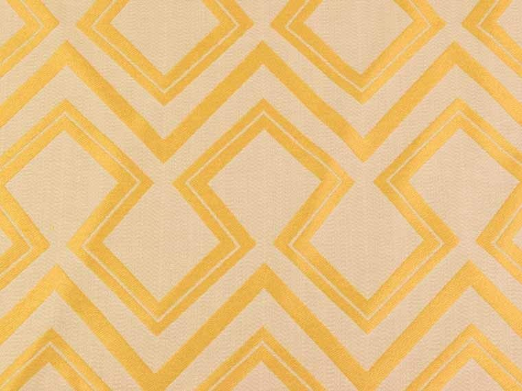 Mustard brockhall designs art deco mouron cotton linen for Art deco style fabric