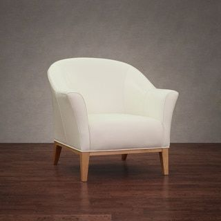 Tivoli Modern White Leather Chair   Free Shipping Today   Overstock.com    14278094