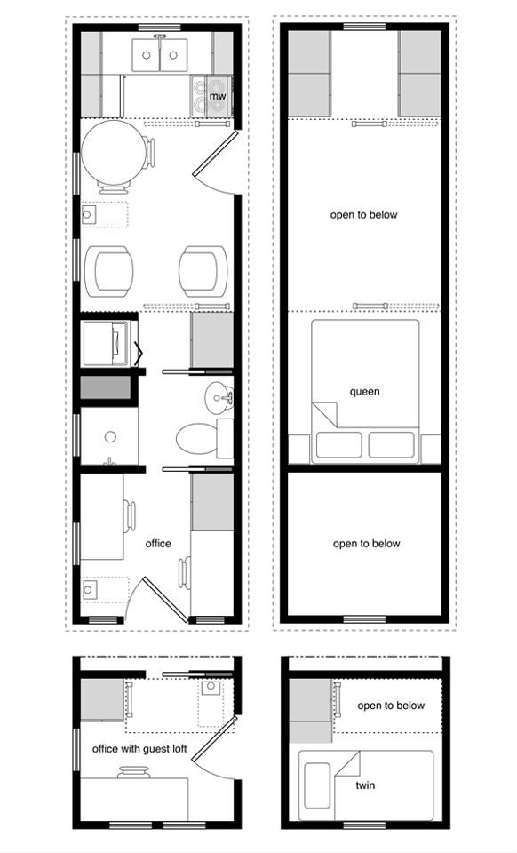 8x24 floor plan tiny house pinterest tiny houses. Black Bedroom Furniture Sets. Home Design Ideas