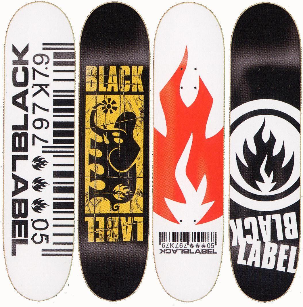 a4c1f17dda9f black label skateboards deck