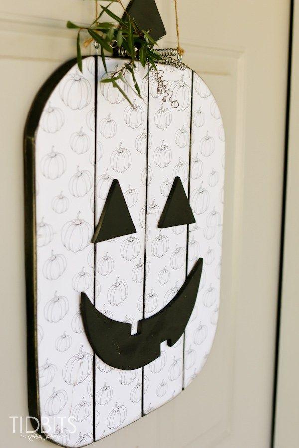 Seasonal character door hanger as part of #DIHWorkshop with @homedepot .  #sponsored