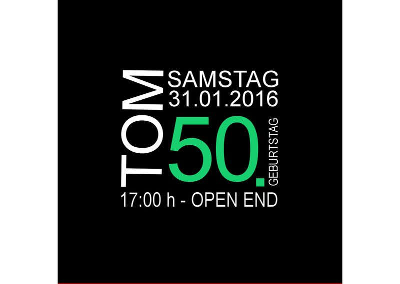Einladungskarte Zum 50 Geburtstag Mit Gruner Zahl Einladung 50