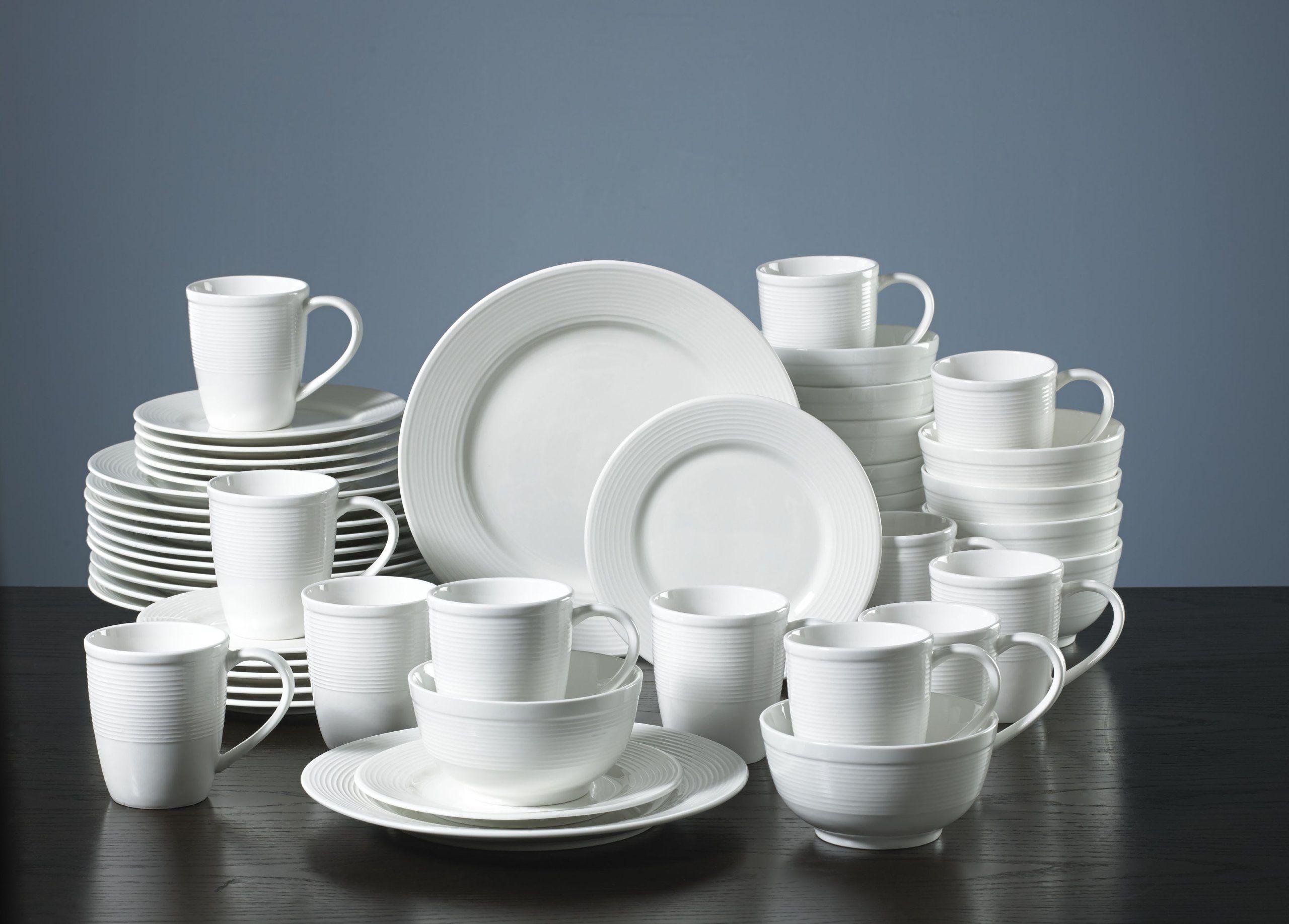 Amazon.com: Gorham Pickwick 48-Piece Dinnerware Set: Place Settings ...
