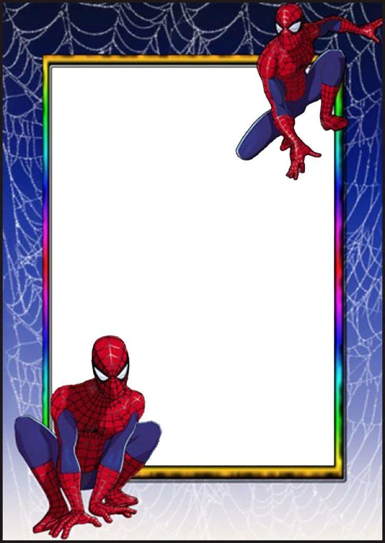 Spiderman Invitation Card | Coolest Invitation Templates | Pinterest ...