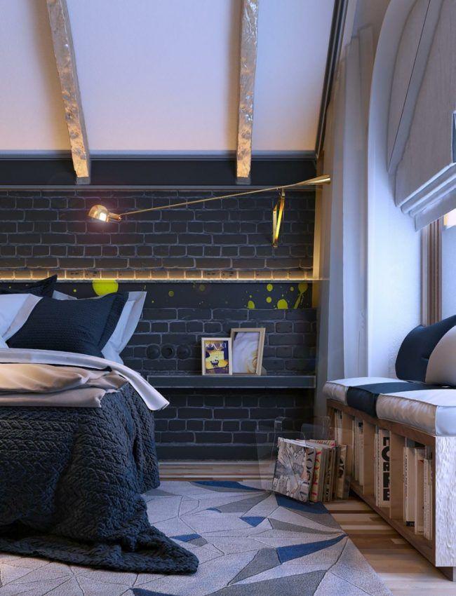 deko-schlafzimmer-indirekte-beleuchtung-akzent-lichterkette-kunst ...