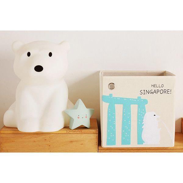 Canvas Storage Box - Singapore