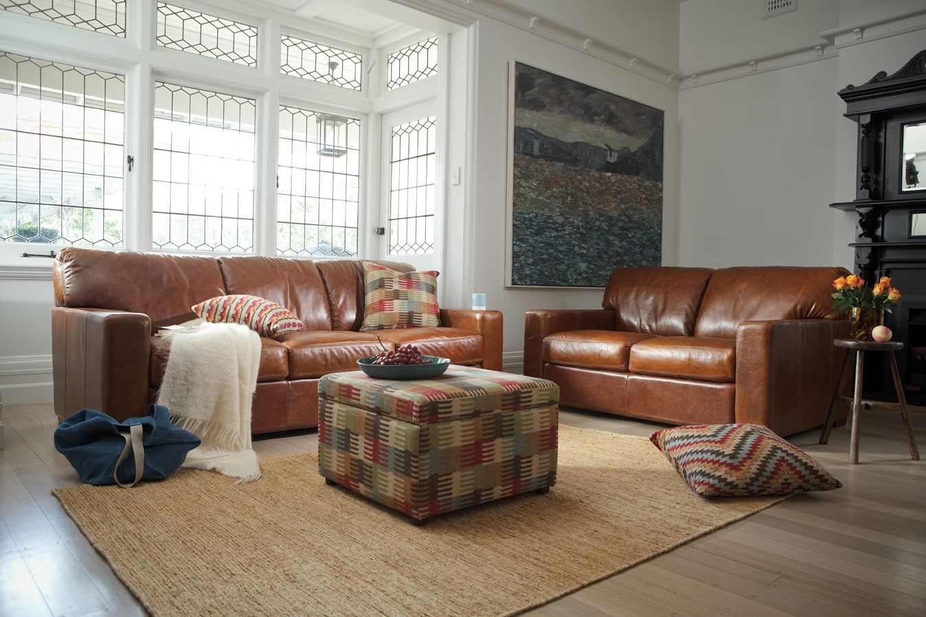 The Plush Estate In Beautiful Traditional Leathers With Sofa Boutique Accessories