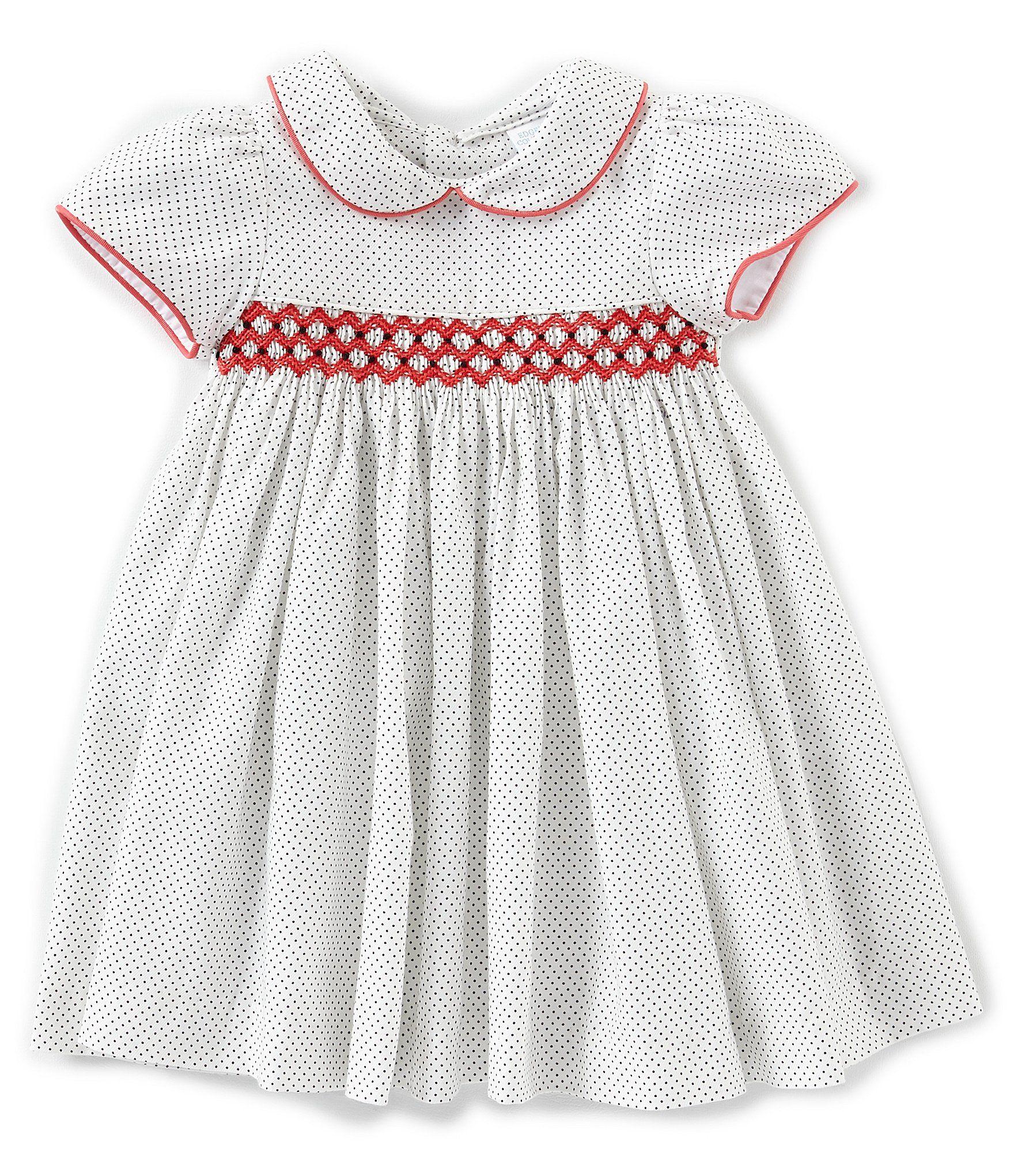 21965dd2b25 Shop for Edgehill Collection Baby Girls 3-24 Months Dot Geometric Print  Smocked Short Sleeve. Visit