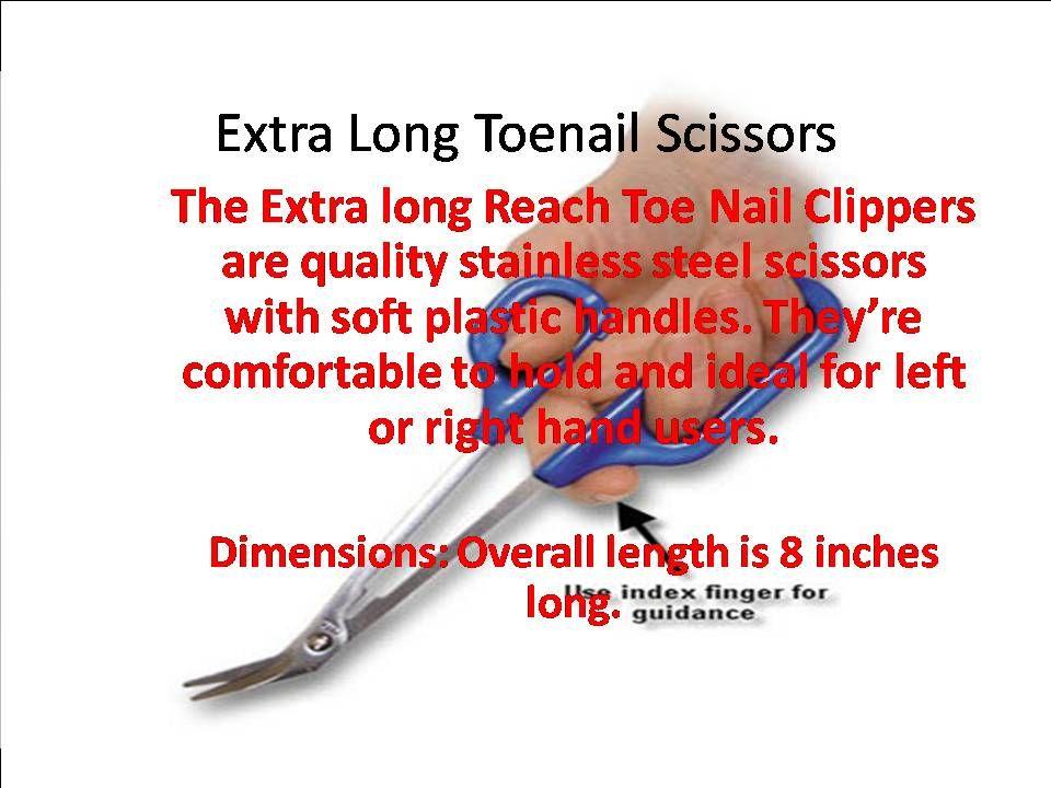 Extra Long Toenail Scissors. http://www.eldermedicalsupplygroup.com ...