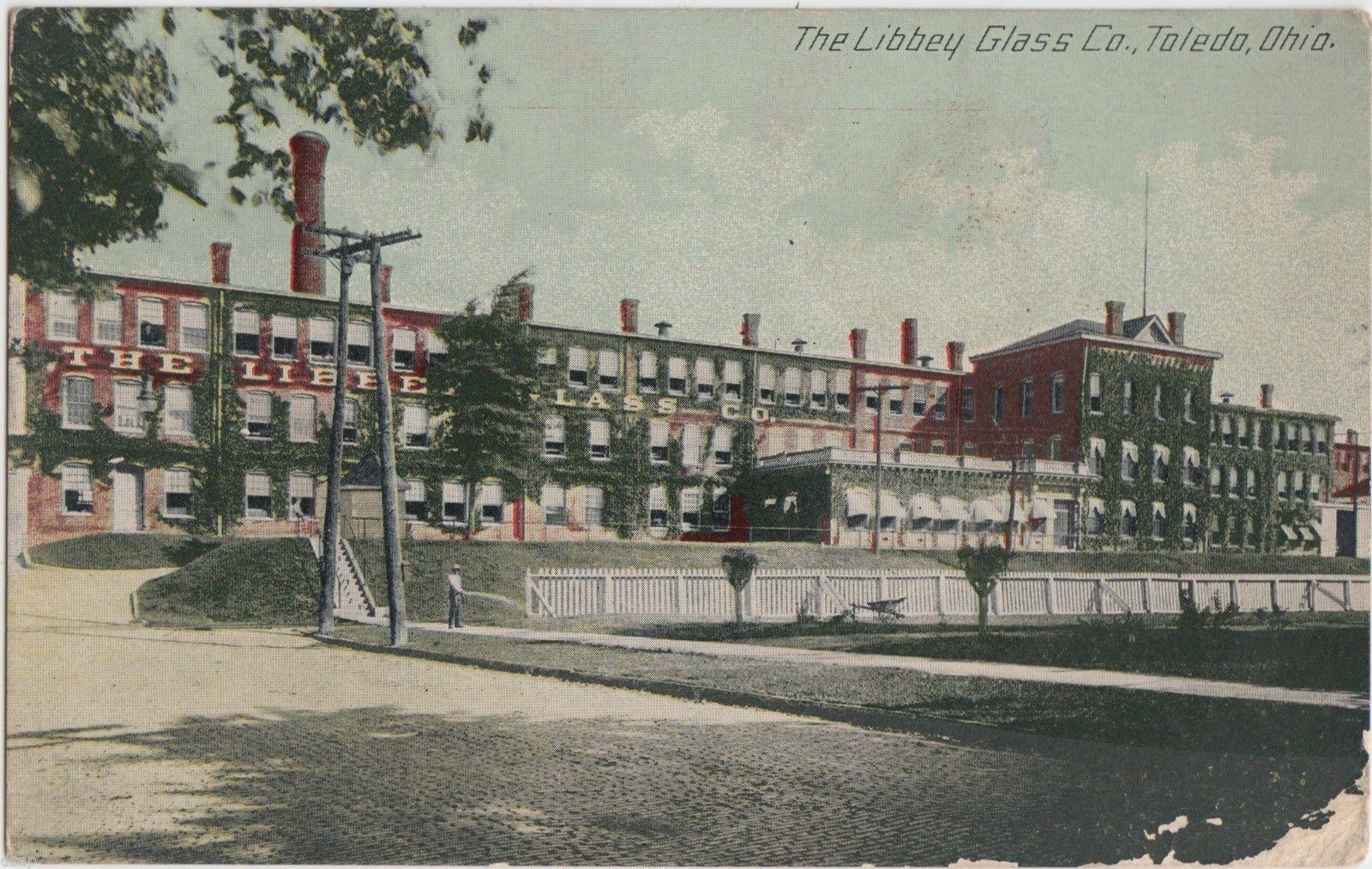 C1910 Toldeo Ohio Postcard Libbey Glass Company Factory Toledo