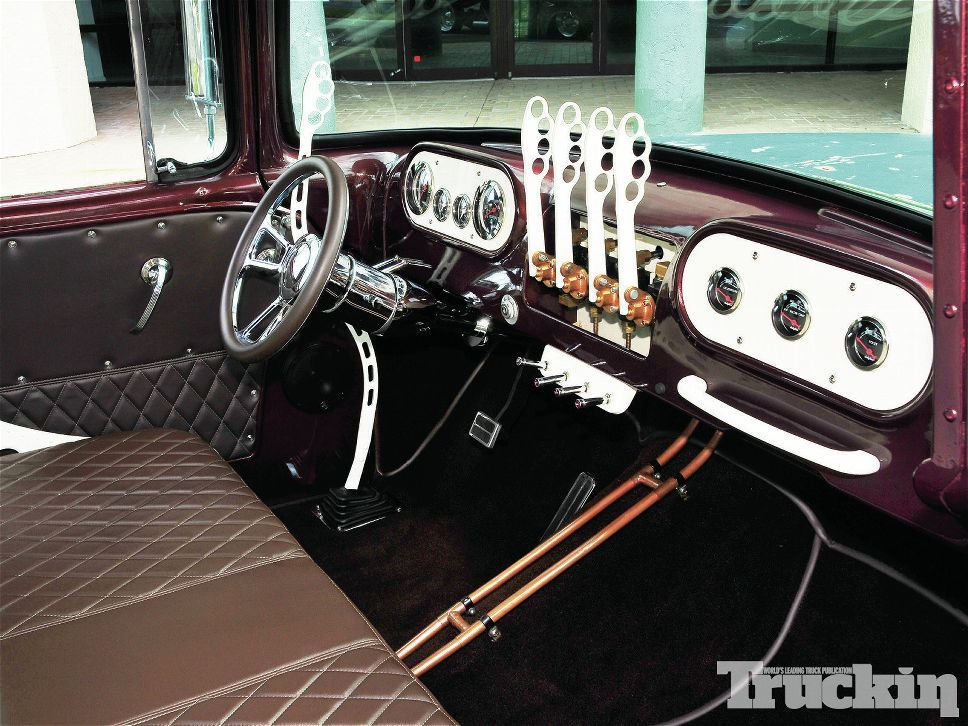 1957 Dodge featured in Truckin mag with the coolest manual