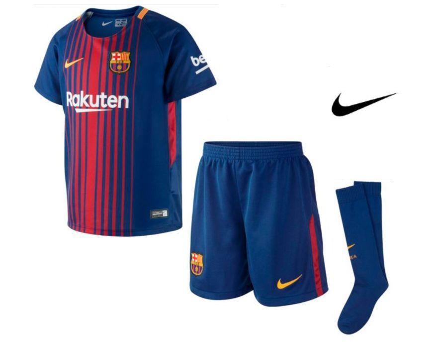 Y también tenemos la equipación infantil del FC Barcelona de esta nueva  temporada. b655fe9ac7d