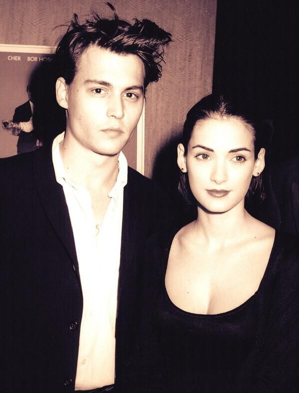 """""""Hold me""""/""""I can't"""" - Johnny Depp & Winona Ryder. Never forget."""