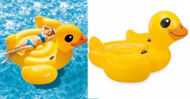Intex Inflatable Mega Duck Island Float Just 29 96 At