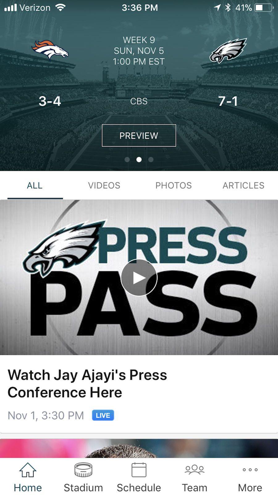 Philadelphia Eagles iosappsappEntertainment