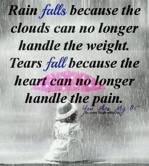 Crying In The Rain Sayings Quotes Pinterest Quotes