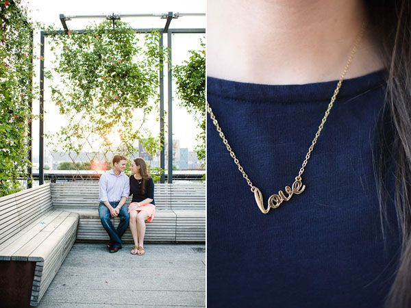 Hooray! Lauren & Colin's engagement session is featured on Brooklyn Bride!