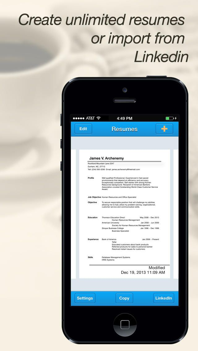 Quick Resume Pro Resumes Maker And Designer App Resume Maker
