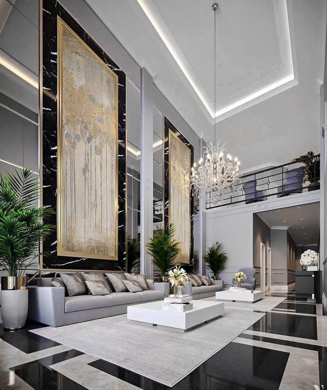 Majestic Luxury modern style living room decor with luxury sofa