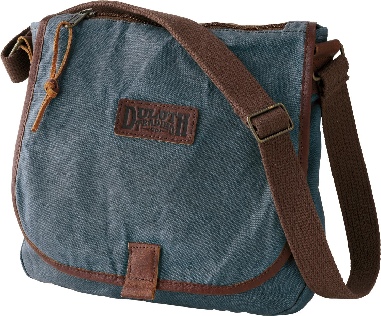 The women's Oil Cloth Sling Bag from Duluth Trading Company lets ...