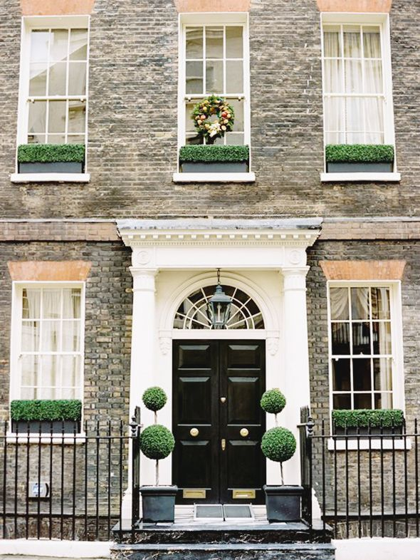 Curb Appeal   Townhouse, London townhouse and British