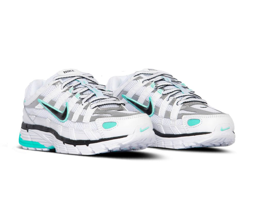 Bruut | Nike P 6000 White Black Metallic Silver Light Aqua